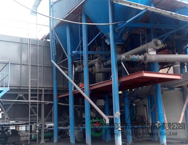 彭州客户水泥均化系统混料机使用现场